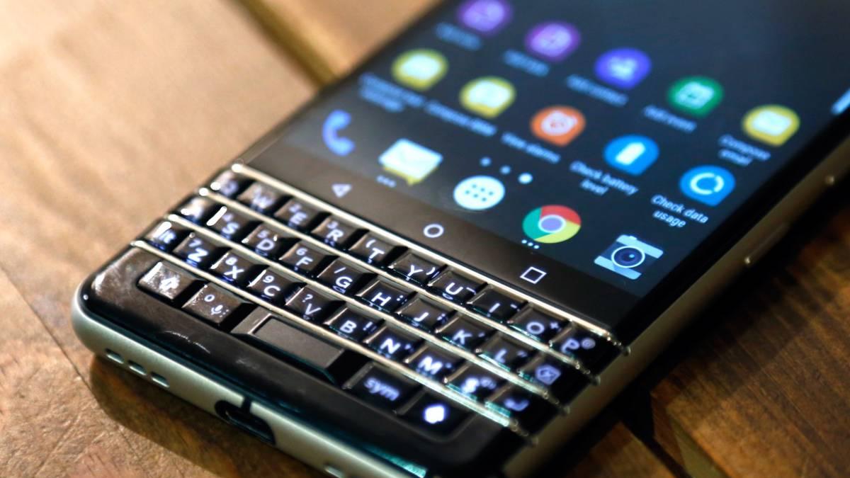 Teclado de Blackberry encendido