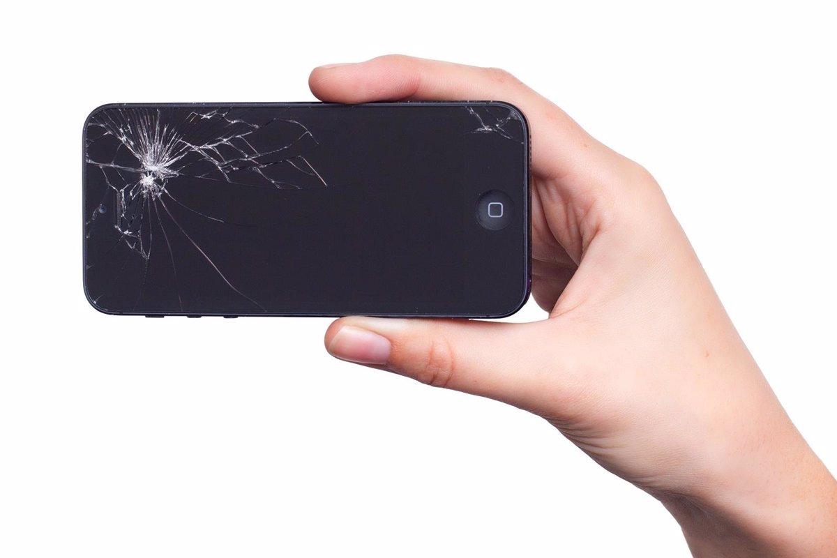 iPhone estrellado de la pantalla
